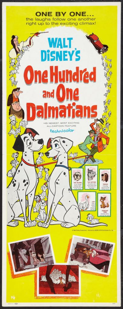 Cartoon Movie Poster of 101 Dalmatians