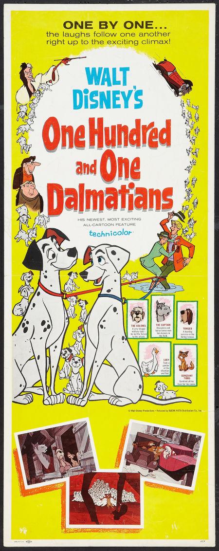 Cartoon Movie Poster of 101 Dalmatians