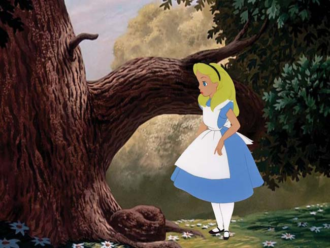 Animation Cel of Alice in Wonderland