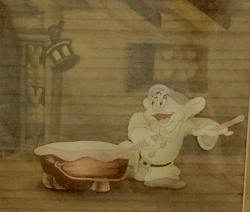 Animation Cel of Dopey Playing the Drums