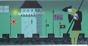 Sleeping Beauty Concept Art Painting by Eyvind Earle