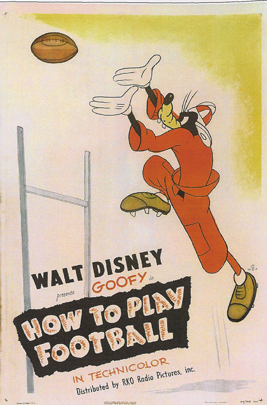 Goofy Football Cartoon Movie Poster