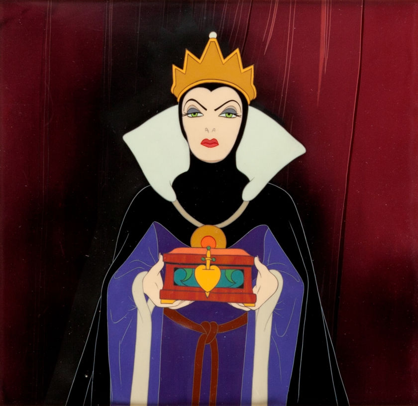 Animation Cel of The Evil Queen with the Heart Box