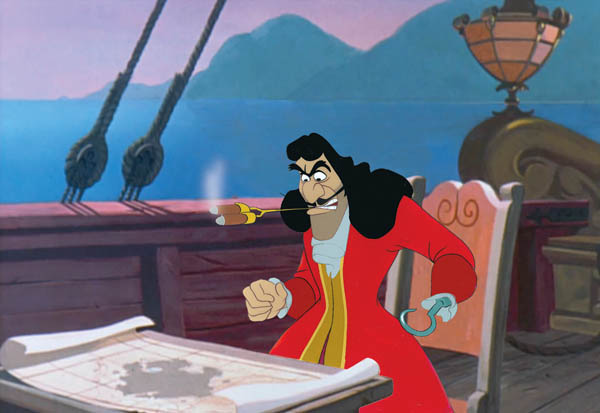 Animation Cel of Captain Hook with Cigar