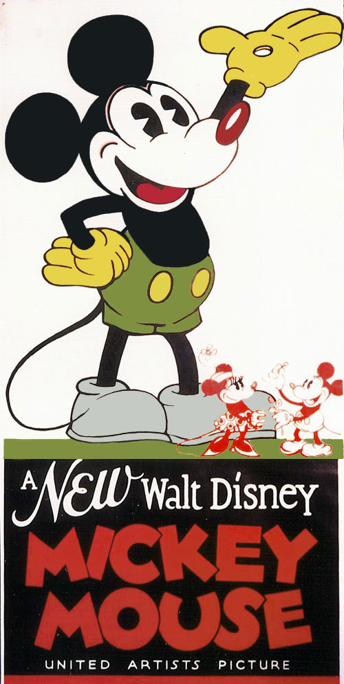 Mickey Mouse Vintage Movie Poster
