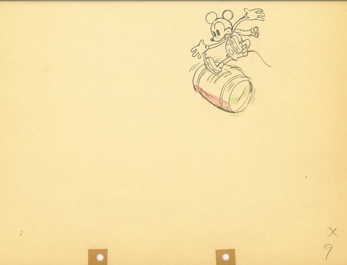 Animation Cel Drawing Mickey Mouse On Ice
