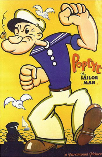 Cartoon Movie Poster of Popeye