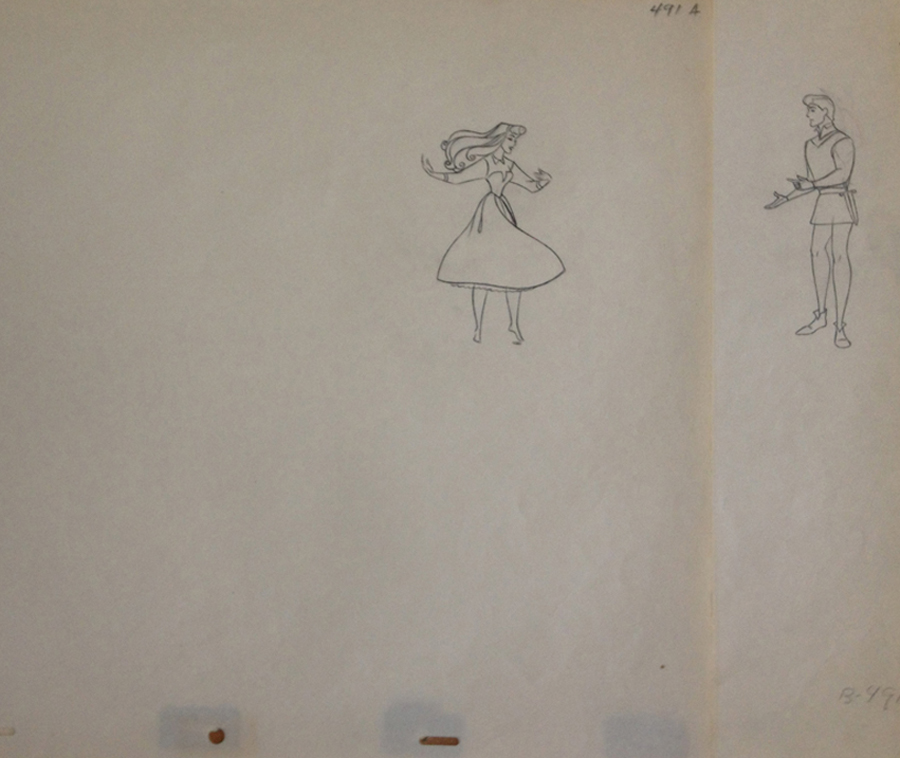 Matching Animation Drawings from Sleeping Beauty
