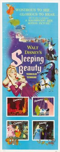 Cartoon Movie Poster of Sleeping Beauty
