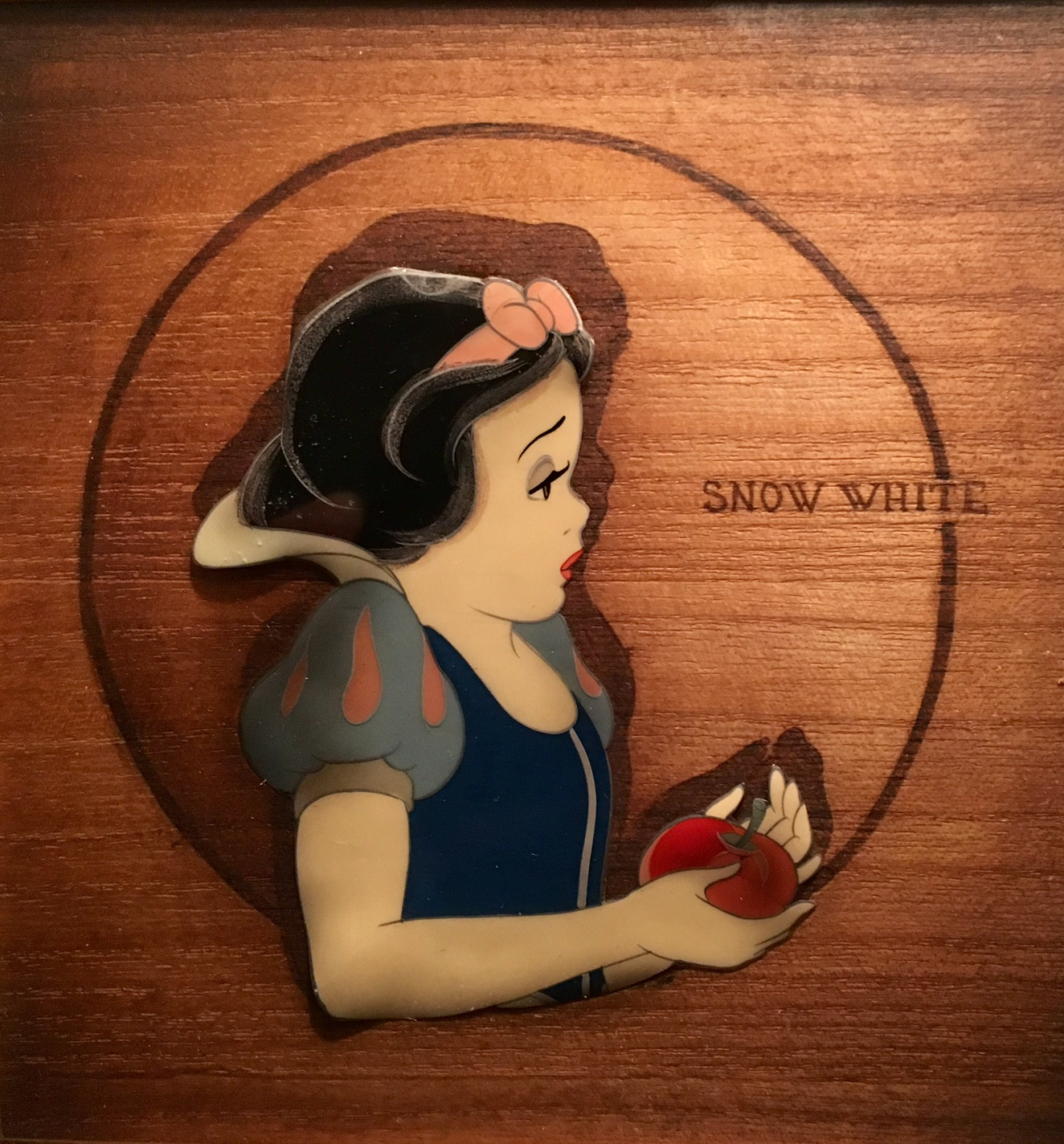 Animation Cel of Snow White with the Poison Apple