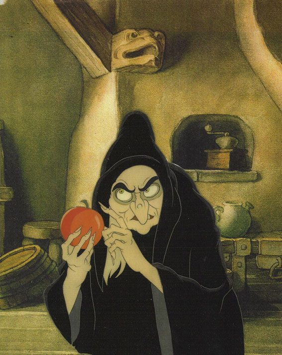 Animation Cel of the Witch with the Poison Apple