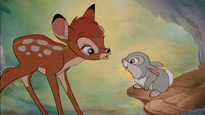 Bambi animation cel